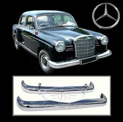 Brand New Mercedes Ponton W120 W121 4 Cyl 59-62 Stainless Steel Bumpers