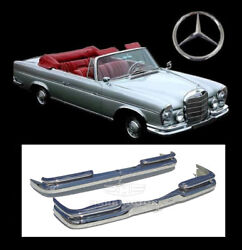 Brand New Mercedes W111 W112 Fintail Coupe Convertible Stainless Steel Bumpers