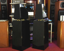 Beautiful Nocturne High Gloss Black Lacquer Audiophile Speakers