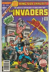 Invaders King-size Annual 1 Fn/vf Captain America, Namor, Human Torch 1977