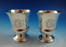 Pair Of Sterling Silver Toothpick Holders By Watrous Mfg. Co. 3633