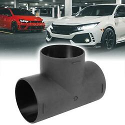 75mm Car Heater Warm 3 Way Air Ducting Pipe T Shape Outlet Connector Black