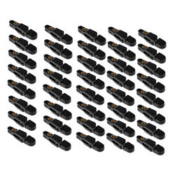 40x Plastic Snap Release Clips For Weight Planer Board Sea Fishing -black
