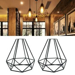 10x2 Pack Retro Diy Lampshade Hanging Lamp Shade Vintage Iron Shop Accessories