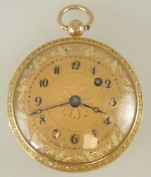 Beautiful Old Pocket Watch 18k Gold Verge French 1800-1810