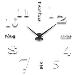 10xclock Watch Wall Clocks 3d Diy Acrylic Mirror Stickers For Home Living Room