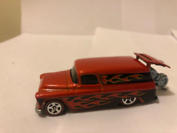 Hot Wheels '55 Chevy Panel From Collector Top 40 Set 2008 New Mint B.orange 164