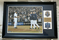 Mariano Rivera, Derek Jeter And Andy Pettitte Yankees Autographed Framed Photo