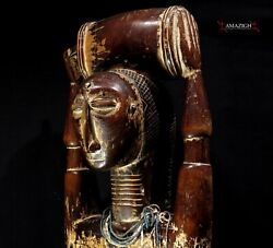 A Large Attie Female Figure - Cote D'ivoire - Stunning And Rare Piece