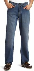 Lee Menand039s Big And Tall Custom Fit Loose Straight Leg Jean