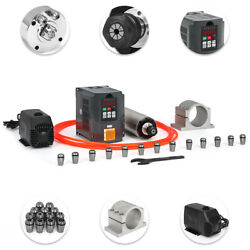 2.2kw Water Cooled Spindle Motor+hy Inverter+pump+pipe+clamp+collet Set+wrench