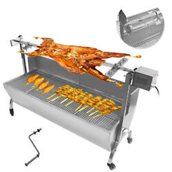 110v 46 Large Stainless Steel Barbecue Grill Outdoor Bbq Machine Beef Stick New