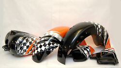 Road King Flhrci Speed Orange Checkered Flag Custom Paint Set Harley And03900-and03902