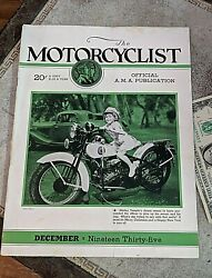Vtg Motorcycle 1935 The Motorcyclist Magazines Indian Ads Shirley Temple Cover
