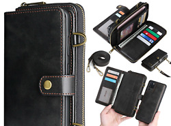 For Samsung Galaxy Note 20 Plus 20 Ultra Leather Wallet Flip Magnetic Case Cover