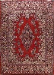 Antique Vegetable Dye Floral Hand-knotted Wool Area Rug Palace Size Carpet 12x14