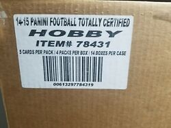 2014 Panini Totally Certified Football Hobby 14-box Case 56 Hits In Case
