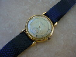 Vacheron And Constantin Vintage 18k Yellow Gold Fancy Tear Drop Lugs Aged Dial.