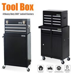 Portable Toolbox Tool Top Chest Box Rollcab Roll Cab Cabinet Garage Stora 2 In 1
