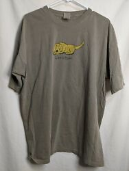 Vintage Authentic Pigment Garment Dyed Life Is Ruff Dog Graphic Mens Xl Shirt