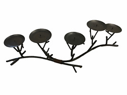 Wrought Iron Antique Finish Rustic Candelabra Candle Holder