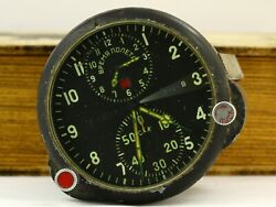 Achs-1 Mig Military Air Force Aircraft Cockpit Clock Ussr Soviet, Russia