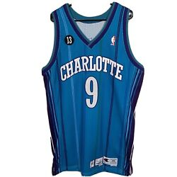 Dale Ellis Charlotte Hornets Authentic Player Issued Jersey Pro Cut W/ Patch 48