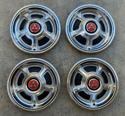 Nice Early Take Offs 68 69 Dodge Charger 14 Hub Caps Hubcaps R/t Mopar Hemi