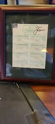 Jack Nicklaus Autograph Framed 1986 Masters All 4 Rounds Loa Signed Auto