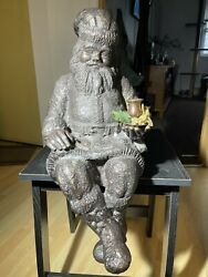 Extremly Rare Department 56 Sitting Santa Claus Candle Holder Christmas Decor