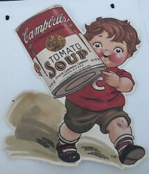 Campbell Soup Kid Litho Cut Out 1970s 80s Advertising Display Vintage Rare