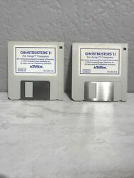 Vintage Lot Of 2 Ghostbusters 2 Pc Game Activision Ibm Tandy Floppy Disk 1989