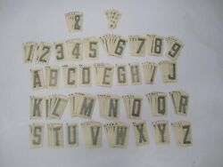 Lot Vtg Premium Promotion 3 Black Dry-mount Boat Utility Letters Numbers Decal