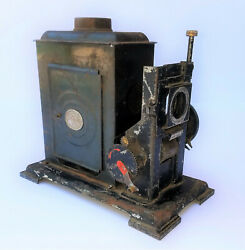 Antique German Lantern Movie Projector Candle And Hand Crank Powered Rustic Ep