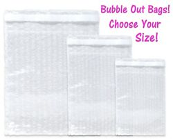 Bubble Out Bags, Protective Pouch Wrap, Lightweight Mailing Air Padded Cushions