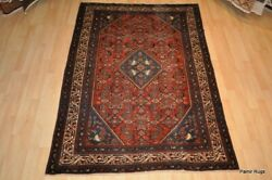Vintage Persiann Antique Rug 4and039 X 6and039 Handmade Melayer Pre 1900 Lilihan