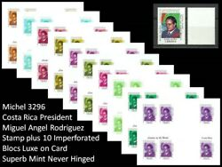 Michel 3296 Costa Rica President Miguel Angel Rodriguez Mnh - Free Shipping