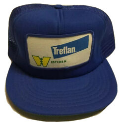Vtg Treflan Westchem Trucker Hat Agriculture Farming Patch Cap Made In The Usa