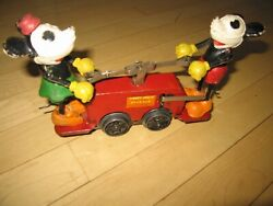 Lionel Mickey Mouse Handcar Windup Prewar Classic Toy, Working Gd-v Gd Condition