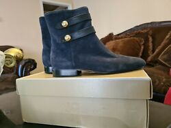 Nwb Michael Maisie Flat Ankle Booties Admiral Size 7