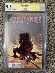Scarlet Spider 2012 1 150 Venom Variant Cgc Ss 9.8 Signed By Stan Lee Rare