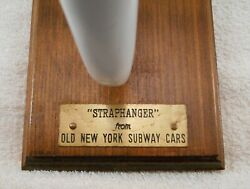 Anitque Cast Iron And Porcelain Old New York City Subway Cars Strap Hanger Handle