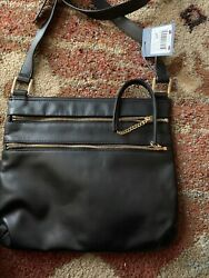 NEW Hobo Bags Black Genuine Leather Crossbody Bag Long Adjustable Strap $238. $80.00