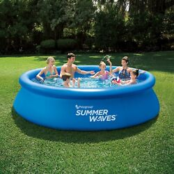 Summer Waves 12ft Quick Set Ring Round Above Ground Swimming Pool | Fast Ship