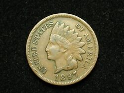 2021 Sale Xf 1897 Indian Head Cent Penny W/ Diamonds And Full Liberty 68e
