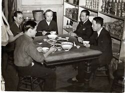1946 Photo Orient Manhattan Lunch Chinese Shops Employees 中华人民共和国 Art Us China