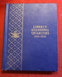 1916-1930 Standing Liberty Quarters In Used Vintage Whitman Album 25 Coins Sl12