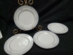 Rare Noritake - Lancashire 3883 - Bread And Butter Plate Set Of 4 6 1/2