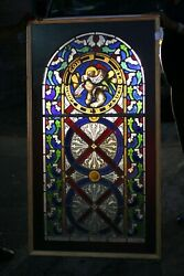 Antique Stain Glass Window Pictorial