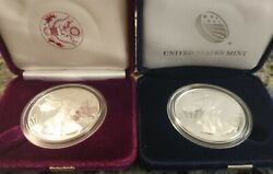 2021-w 21ea And 1986-s American Eagle 1 Oz. Silver Proof Coins - First And Last